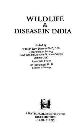 Wildlife   Diseasein  sic  India PDF