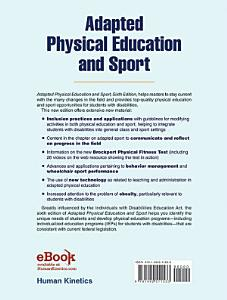 Adapted Physical Education and Sport  6E PDF