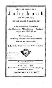 Berliner astronomisches Jahrbuch