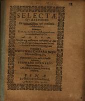Selectae Quaestiones Ex contractibus, qui consensu celebrantur ...