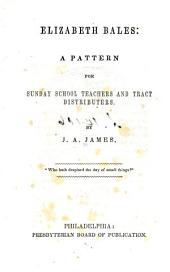 Elizabeth Bales: A Pattern. For Sunday School Teachers and Tract Distributers