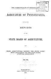 Agriculture of Pennsylvania: Volume 15