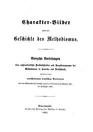 Charakter bilder aus der geschichte des methodismus PDF