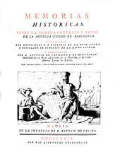 Memorias históricas sobre la marina, comercio y artes de la antigua ciudad de Barcelona: Volumen 2