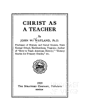 Christ as a teacher