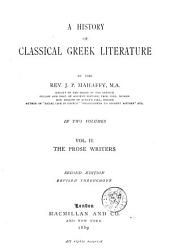 A History of Classical Greek Literature: Volume 2