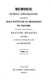 Memorie storico-diplomatiche appartenenti alla città ed ai marchesi di Saluzzo: Volume 2