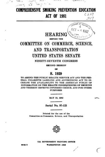 Comprehensive Smoking Prevention Education Act of 1981 PDF