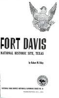 Fort Davis National Historic Site  Texas PDF