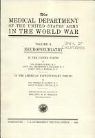 The Medical Department of the United States Army in the World War PDF