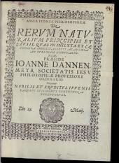 Assertiones philosophicae de rerum naturalium principiis et causis
