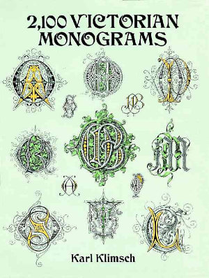 2 100 Victorian Monograms