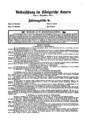 Volkszählung im Königreiche Bayern vom 1. Dezember 1871. Zählungsliste Nr....