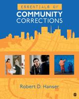 Essentials of Community Corrections PDF