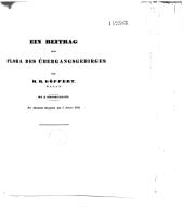 Ein Beitrag Zur Flora Des Übergangsgebirges: der Akademie übergeben den 7. Januar 1842