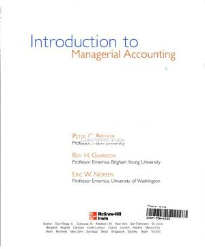 Introduction to Managerial Accounting PDF
