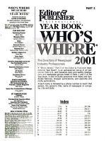Editor   Publisher International Year Book PDF
