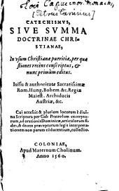 Catechismus: sive Summa doctrinae Christianae in usum Christianae pueritiae