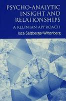 Psycho Analytic Insight and Relationships PDF
