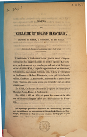 Notes sur Guillaume et Roland Blanstrain, graveure de sceaux, à Audenaerde, au 16ème siècle