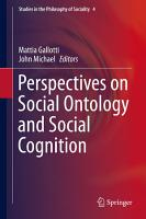 Perspectives on Social Ontology and Social Cognition PDF