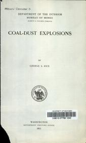 Coal-dust explosions
