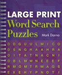 Large Print Word Search Puzzles PDF