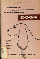 Suggestions for Teachers and Club Leaders on Activities Related to Dogs PDF