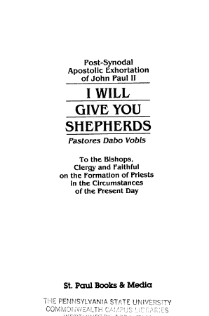 I Will Give You Shepherds PDF