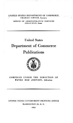 The United States Department of Commerce Publications  Catalog and Index Supplement PDF