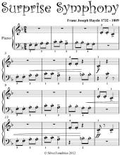 Surprise Symphony Beginner Piano Sheet Music