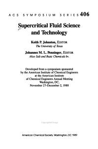 Supercritical Fluid Science and Technology