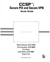 CCSP  Secure PIX and Secure VPN Study Guide PDF