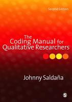 The Coding Manual for Qualitative Researchers PDF