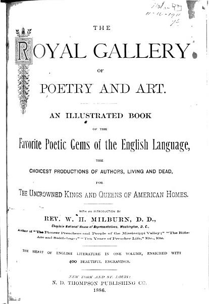 Download The Royal Gallery of Poetry and Art Book