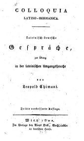Colloquia Latino-germanica