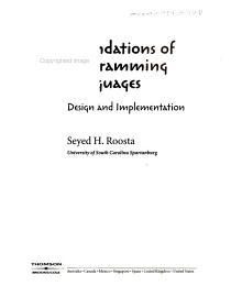 Foundations of Programming Languages PDF