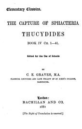 The capture of Sphacteria: Thucydides book iv ch
