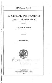 Manual No.3: Electrical Instruments and Telephones, Revised 1910