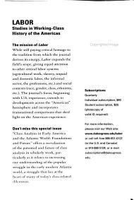 Labour History Review PDF