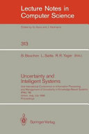 Uncertainty and Intelligent Systems
