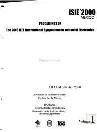 Proceedings of the     IEEE International Symposium on Industrial Electronics PDF