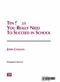 Ten Skills You Really Need to Succeed in School