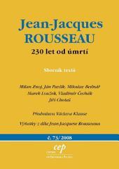 Jean Jacques Rousseau: 230 let od úmrtí