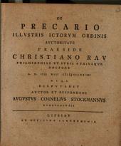De precario ... praeside Christiano Rau ... A. D. IIII. maii ... CCLXXIIII