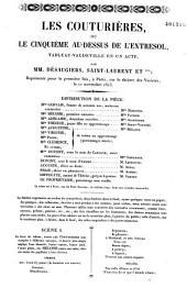 Les couturières, ou le cinquième au-dessus de l'entresol: tableau vaudeville en un acte