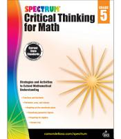 Spectrum Critical Thinking for Math  Grade 5 PDF