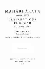 Mahabharata Book Five (Volume 1)
