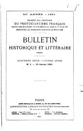 Bulletin historique et littéraire: Volume50