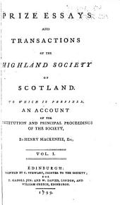 Transactions of the Highland and Agricultural Society of Scotland: Volume 1